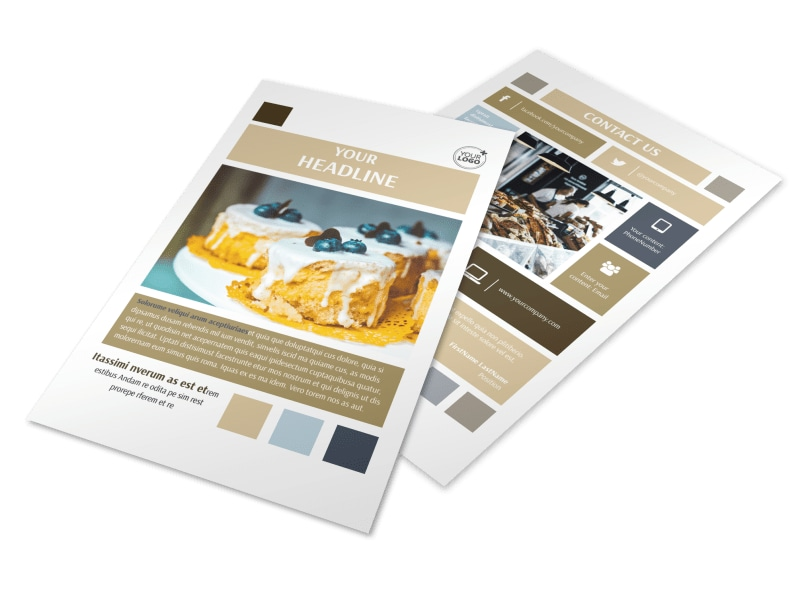 Fine Pastries Catering Flyer Template 3