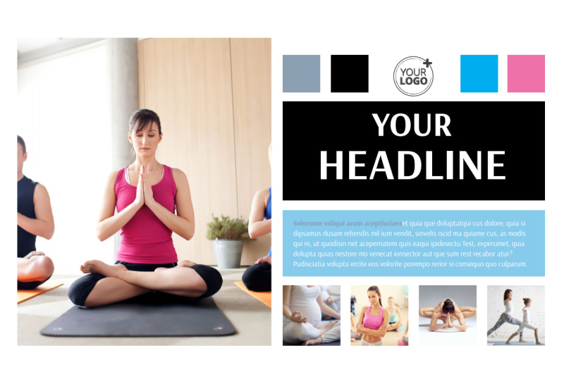 Yoga Class Postcard Template Preview 2