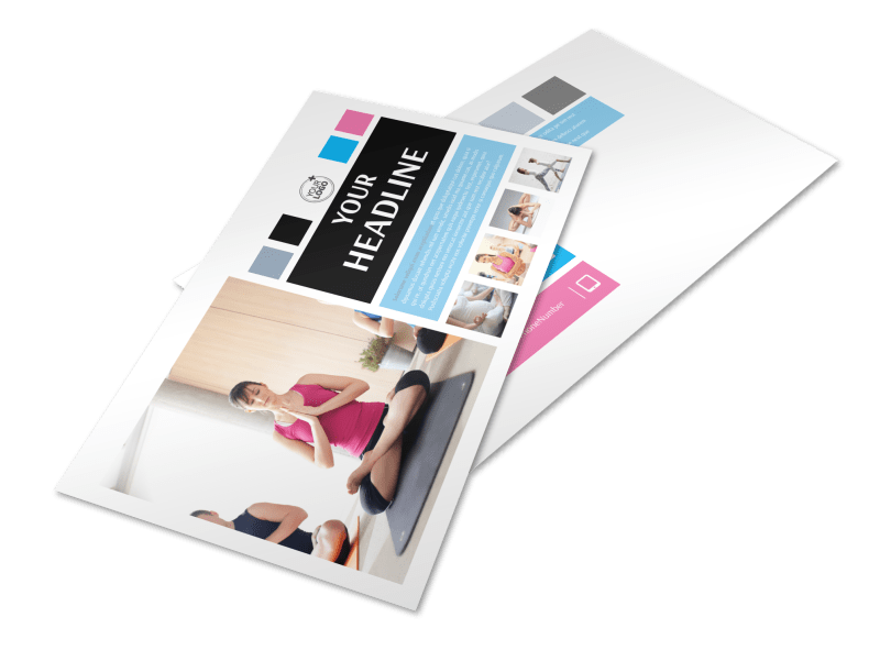 Yoga Class Postcard Template Preview 1