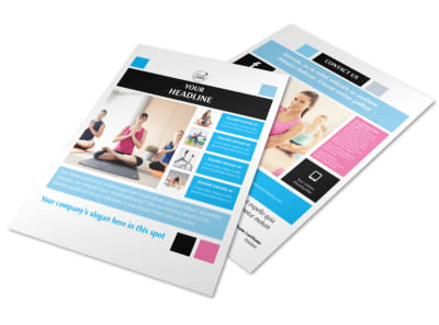 Yoga Instructor & Studio Flyer Template preview