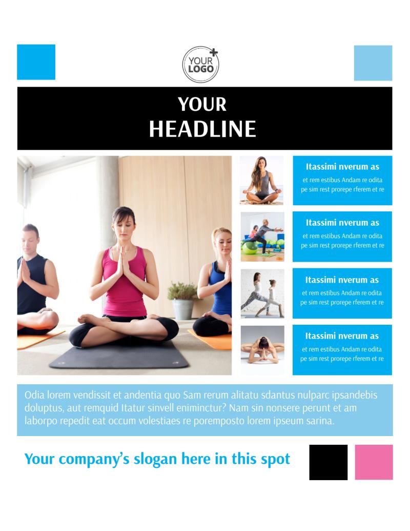 Yoga Class Flyer Template Mycreativeshop