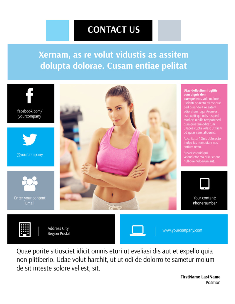 Yoga Class Flyer Template Preview 3