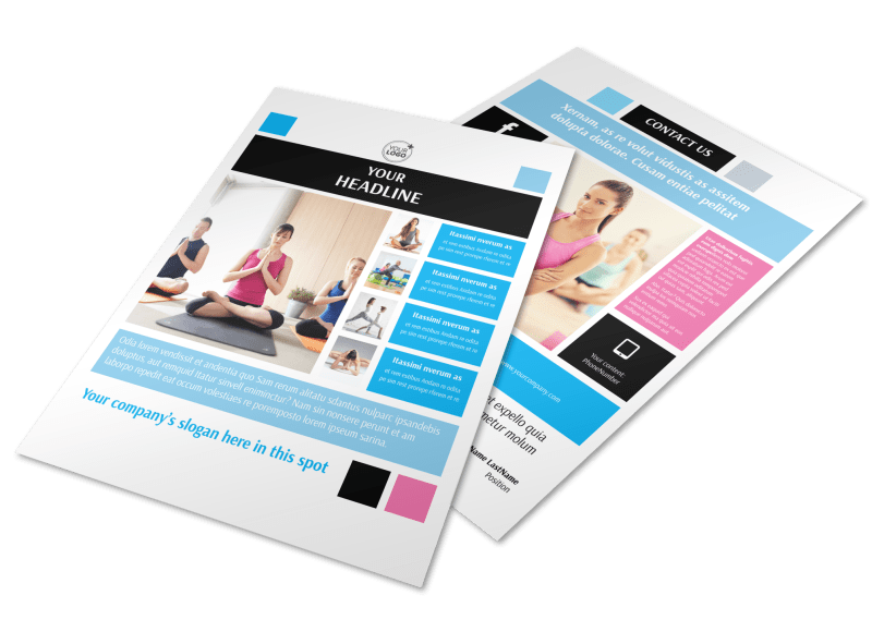 Yoga Class Flyer Template Preview 1