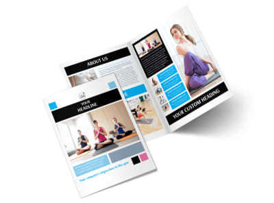 Yoga Instructor & Studio Bi-Fold Brochure Template 2 preview