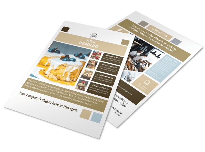 Fine Pastries Catering Flyer Template Preview 4