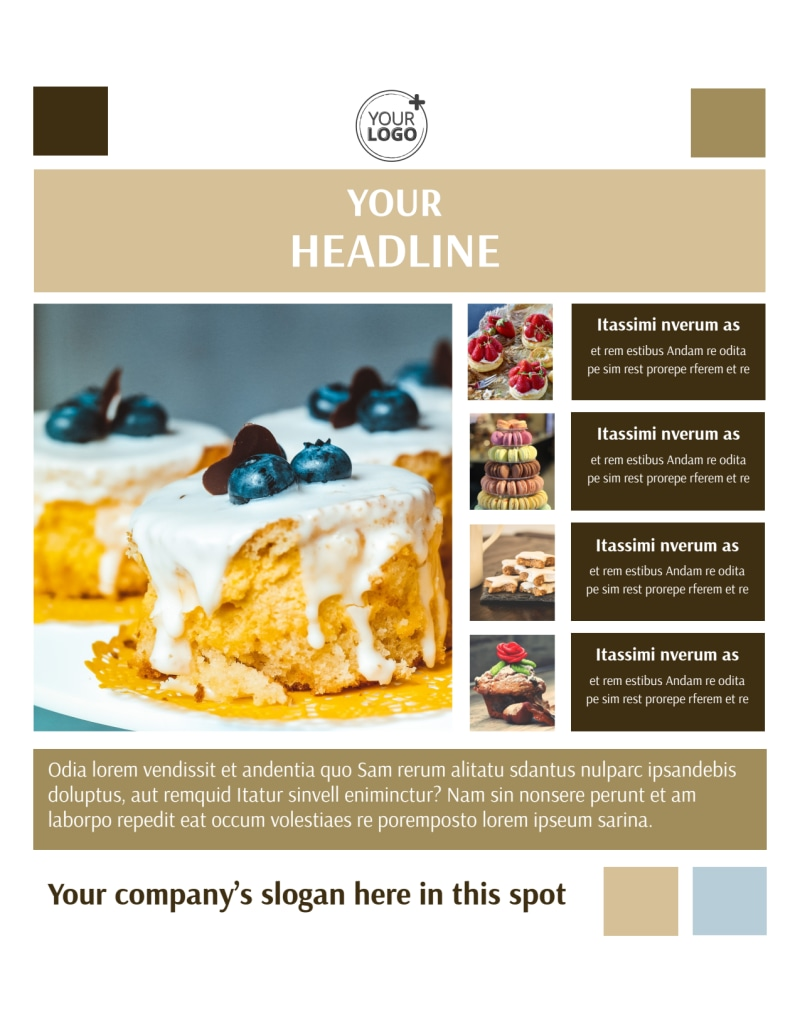 Fine Pastries Catering Flyer Template Preview 2