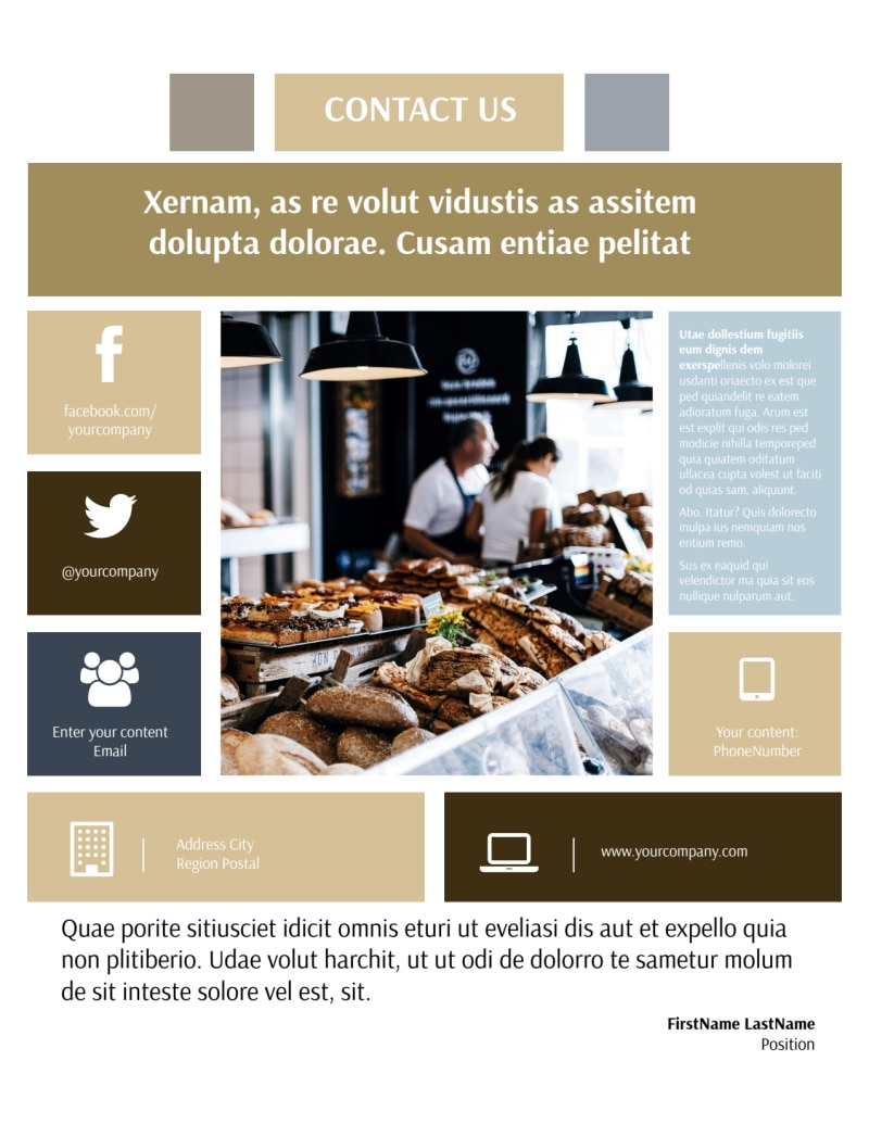 Fine Pastries Catering Flyer Template Preview 3
