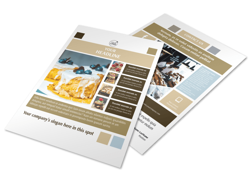 Fine Pastries Catering Flyer Template Preview 1