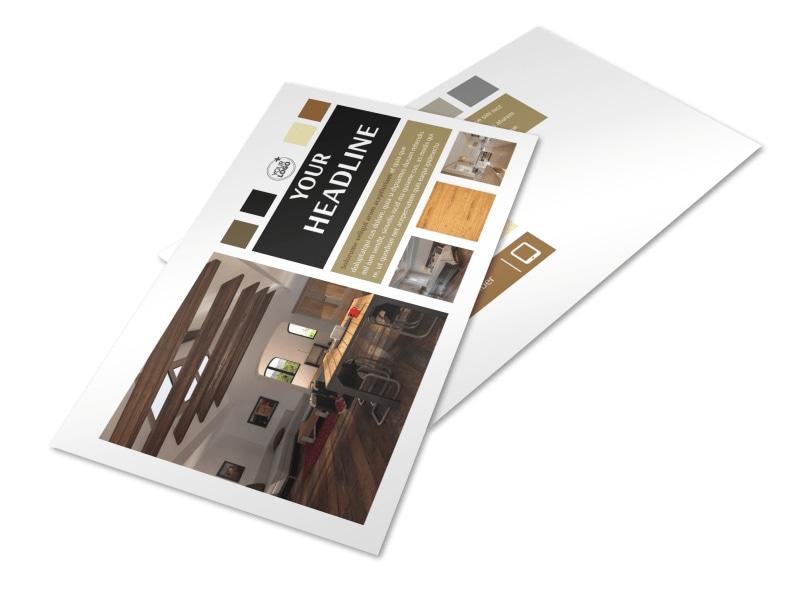 Hardwood Floors Postcard Template 2