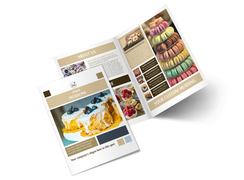 Fine Pastries Catering Bi-Fold Brochure Template 2