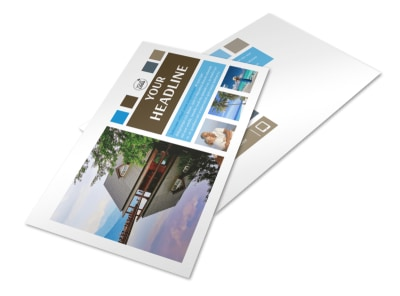 Sunny Villa Rental Postcard Template 2 preview