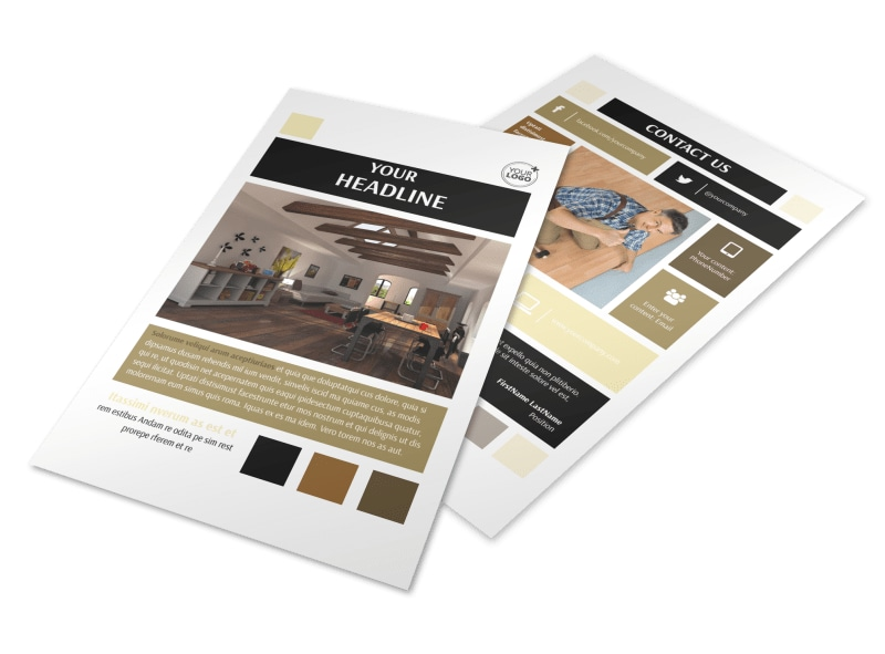 Hardwood Floors Flyer Template 3