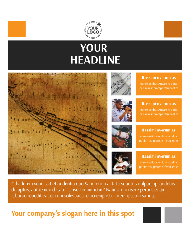 Music School Flyer Template Preview 2