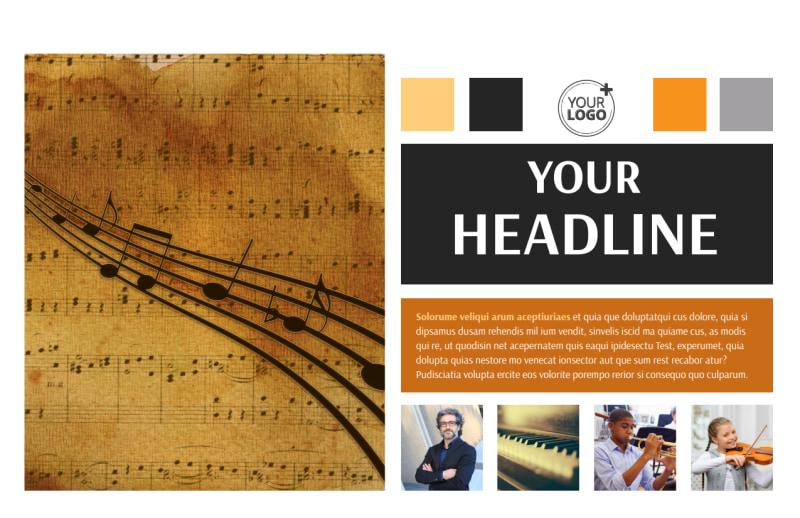 Music School Postcard Template Preview 2