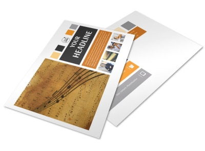 Music School Postcard Template preview