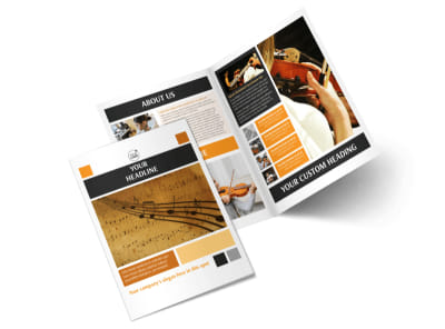 Music School Bi-Fold Brochure Template 2