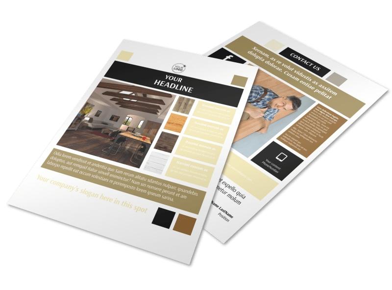 Hardwood Floors Flyer Template