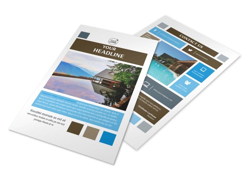 Sunny Villa Rental Flyer Template 3