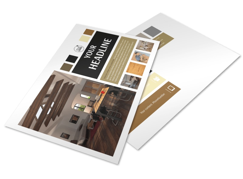 Hardwood Floors Postcard Template