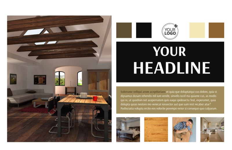Hardwood Floors Postcard Template Preview 2