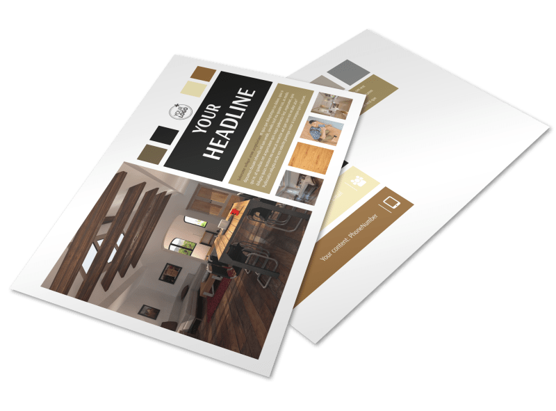 Hardwood Floors Postcard Template Preview 1
