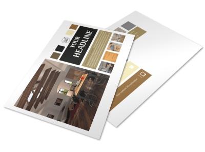 Hardwood Floors Postcard Template preview