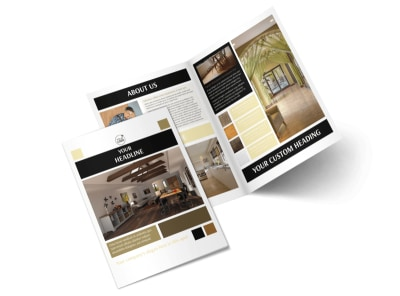 Hardwood Floors Bi-Fold Brochure Template 2
