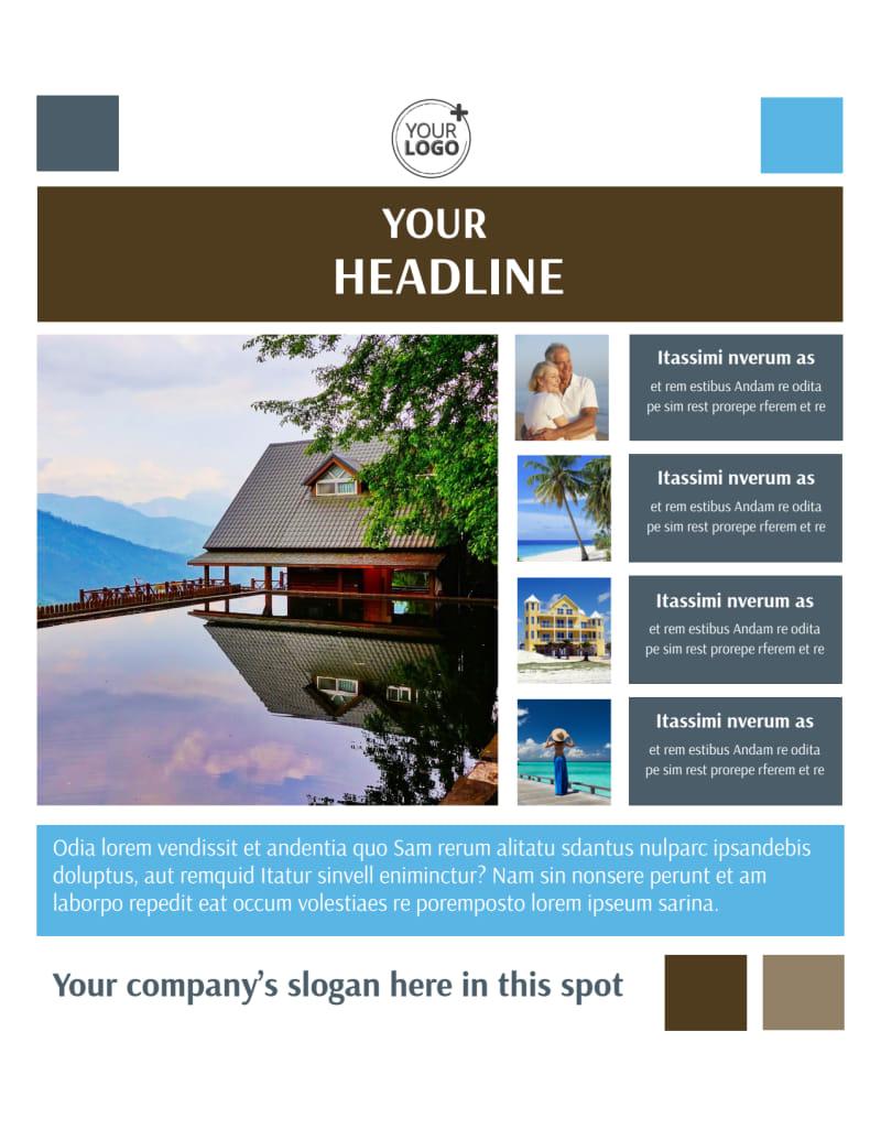 Sunny Villa Rental Flyer Template Preview 2