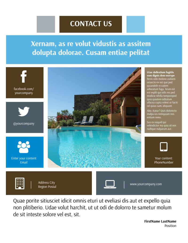 Sunny Villa Rental Flyer Template Preview 3