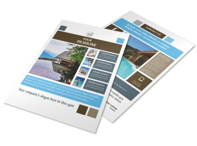 Sunny Villa Rental Flyer Template
