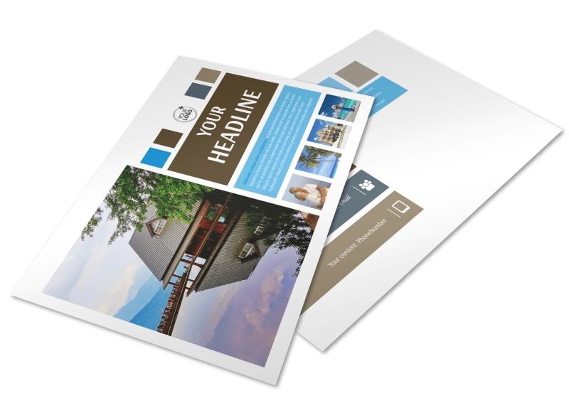 Sunny Villa Rental Postcard Template Preview 4