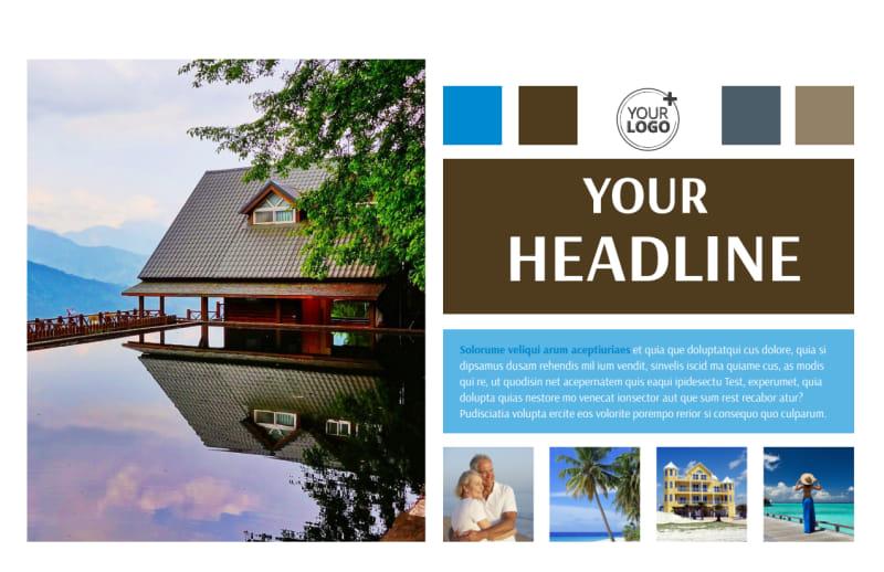 Sunny Villa Rental Postcard Template Preview 2