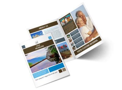 Sunny Villa Rental Bi-Fold Brochure Template 2