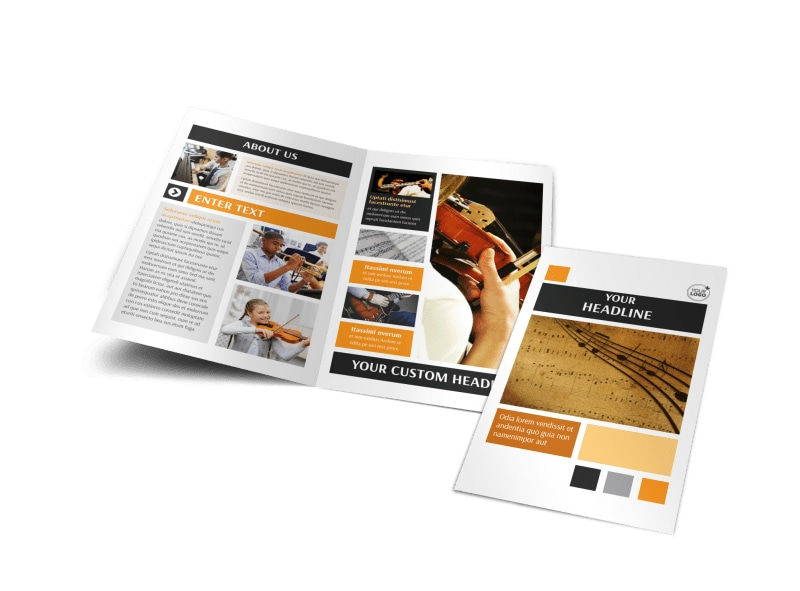 Music School Bi-Fold Brochure Template