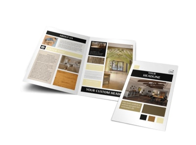 Hardwood Floors Bi-Fold Brochure Template preview