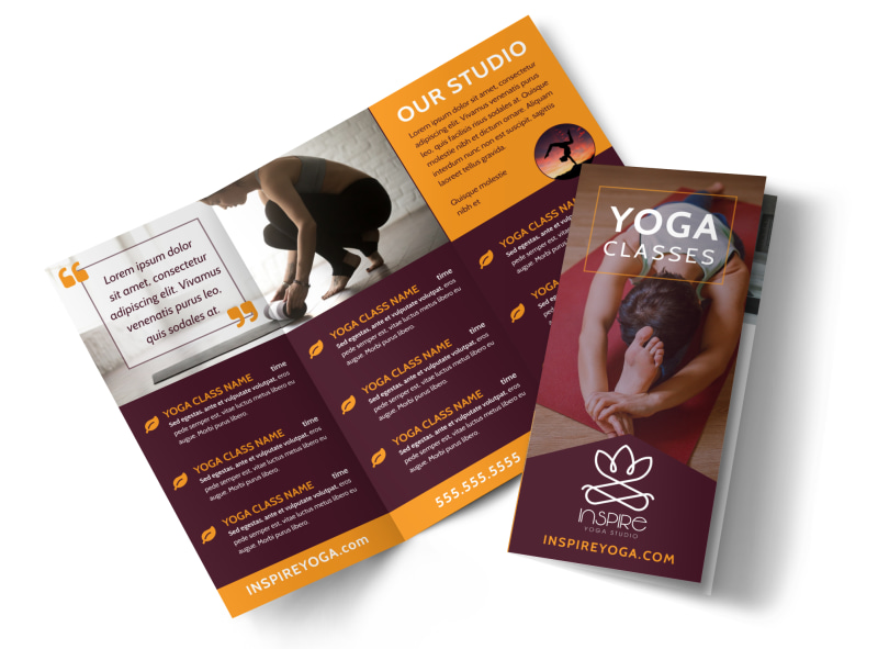 Yoga Class Brochure Template  Mycreativeshop