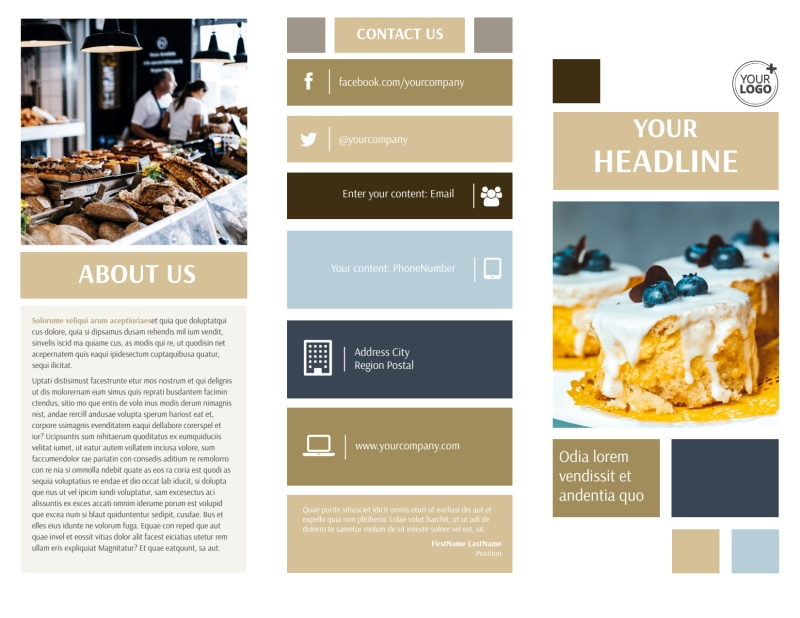 Fine Pastries Catering Brochure Template Preview 2
