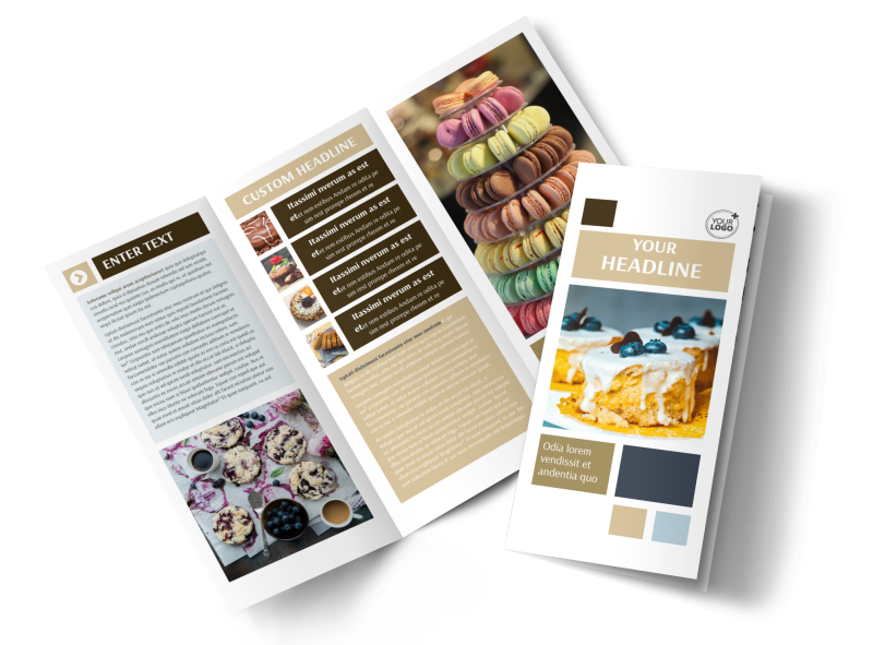 Fine Pastries Catering Brochure Template Preview 1