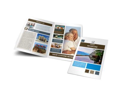 Sunny Villa Rental Bi-Fold Brochure Template