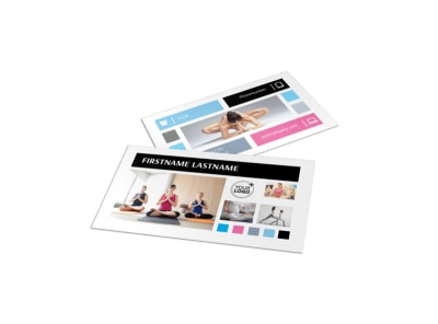 Yoga Instructor & Studio Business Card Template preview