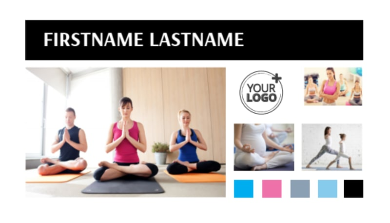 Yoga Class Business Card Template Preview 2