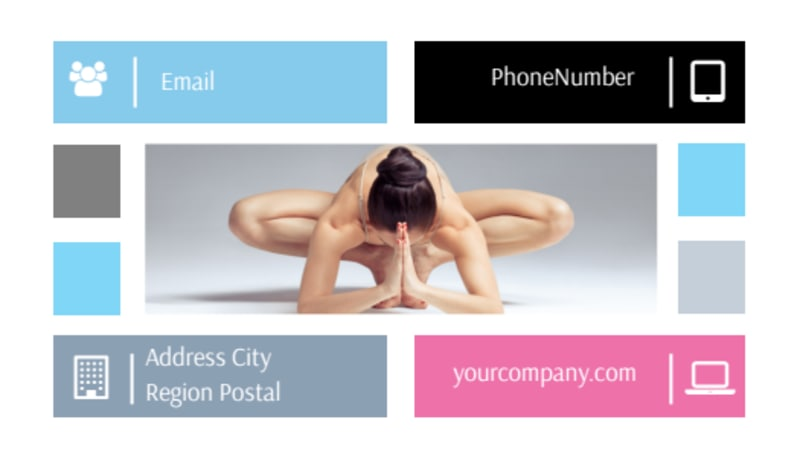 Yoga Class Business Card Template Preview 3