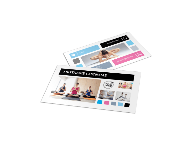 Yoga Class Business Card Template Preview 1