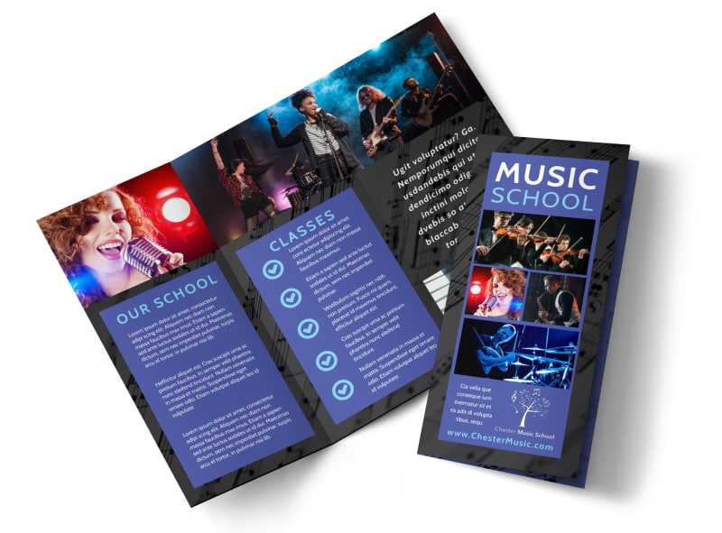 Music School Brochure Template MyCreativeShop - Tri fold school brochure template