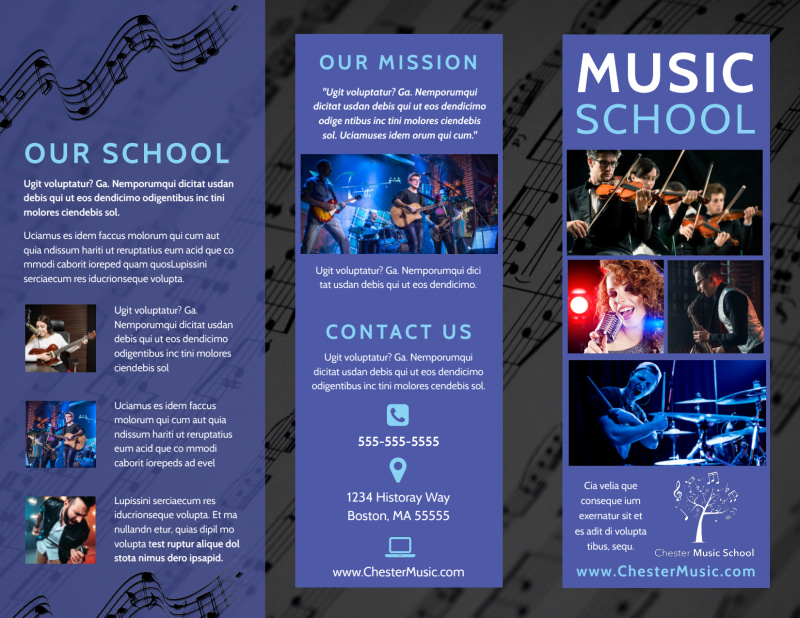 Music School Brochure Template Preview 2