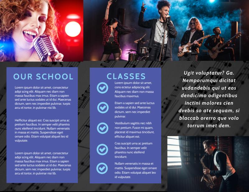 Music School Brochure Template Preview 3