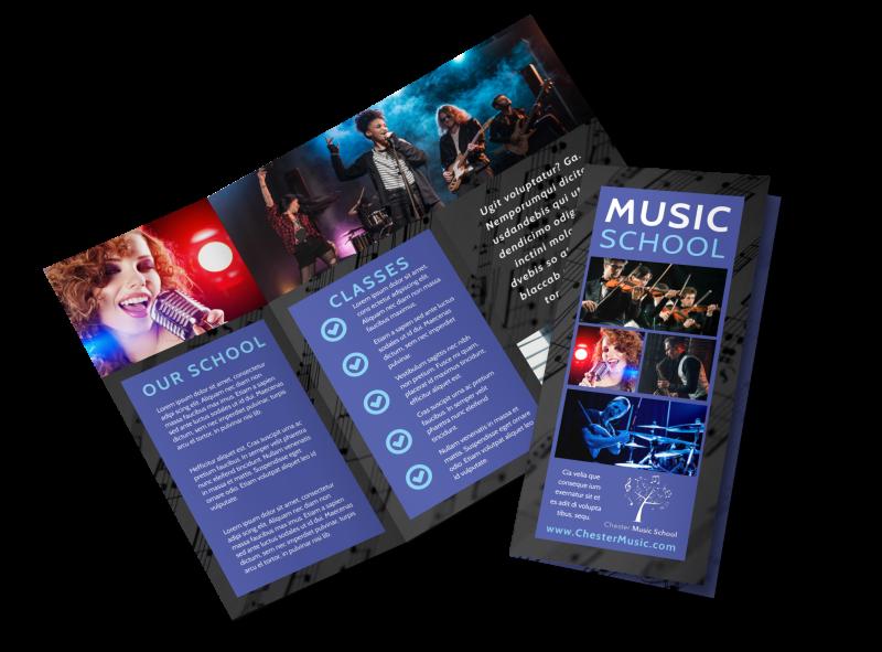 Music School Brochure Template Preview 1