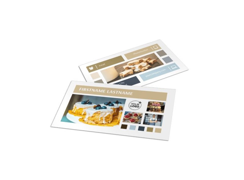 Fine Pastries Catering Business Card Template MyCreativeShop
