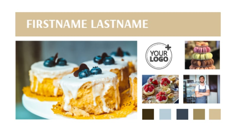 Fine Pastries Catering Business Card Template Preview 2
