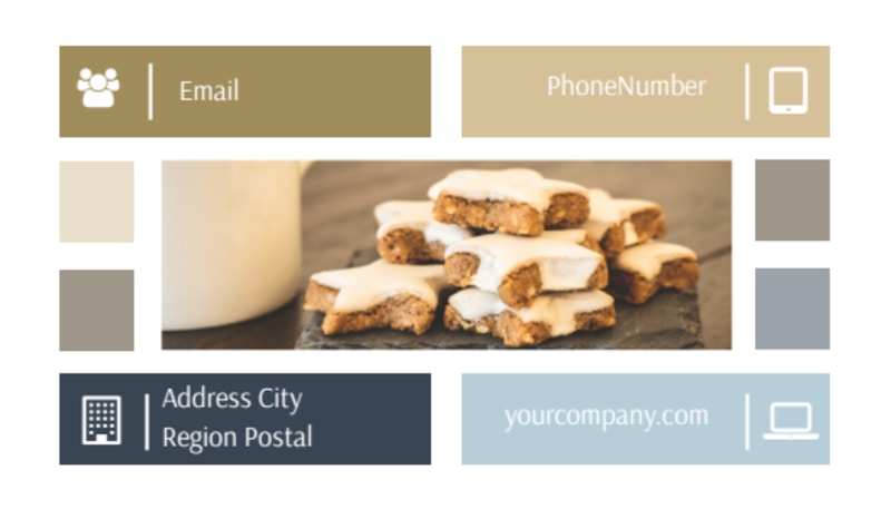 Fine Pastries Catering Business Card Template Preview 3